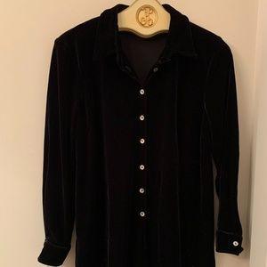 Motherhood maternity long blouse tunic top black